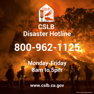 CSLB-Disaster-Hotline