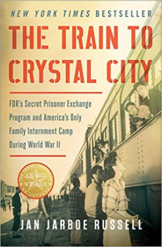 train to crystal city book title picture of passengers and a train