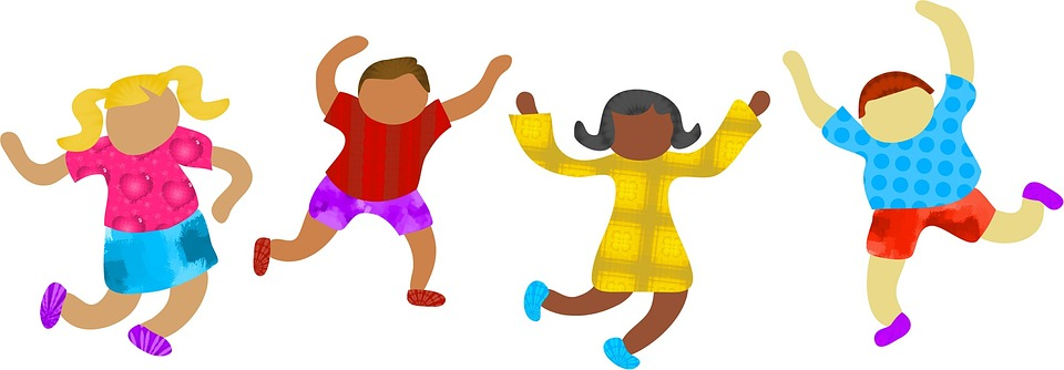 Four kids playing