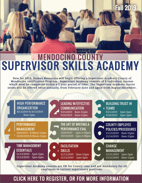 Supervisor Academy 2019 fall