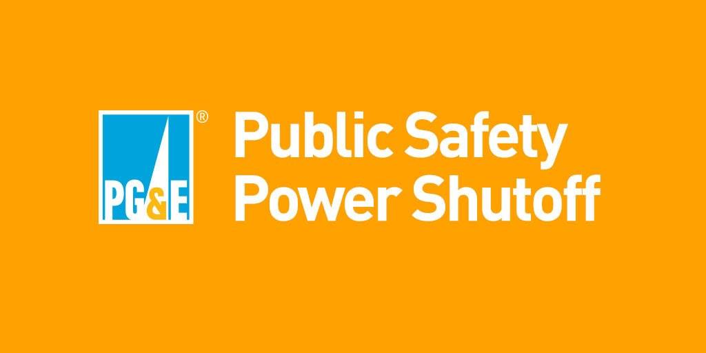 PG&E Power Safety Shutoff Graphic