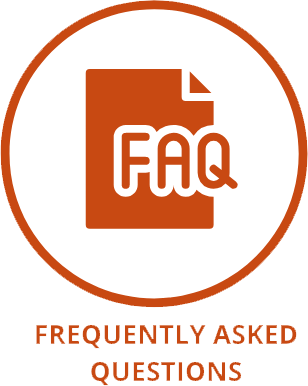 FAQ button with words
