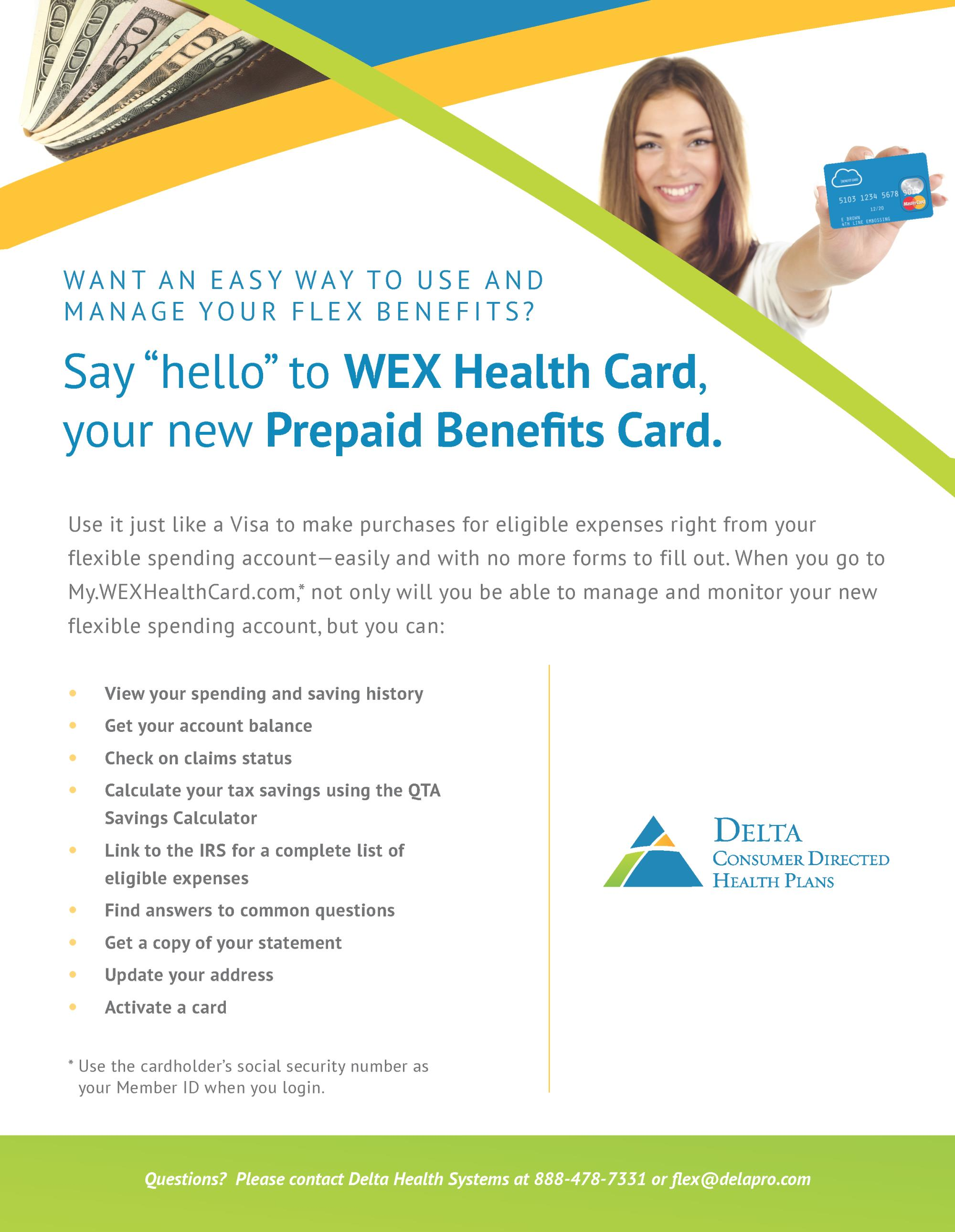 New Prepaid Benefits Card for 2018