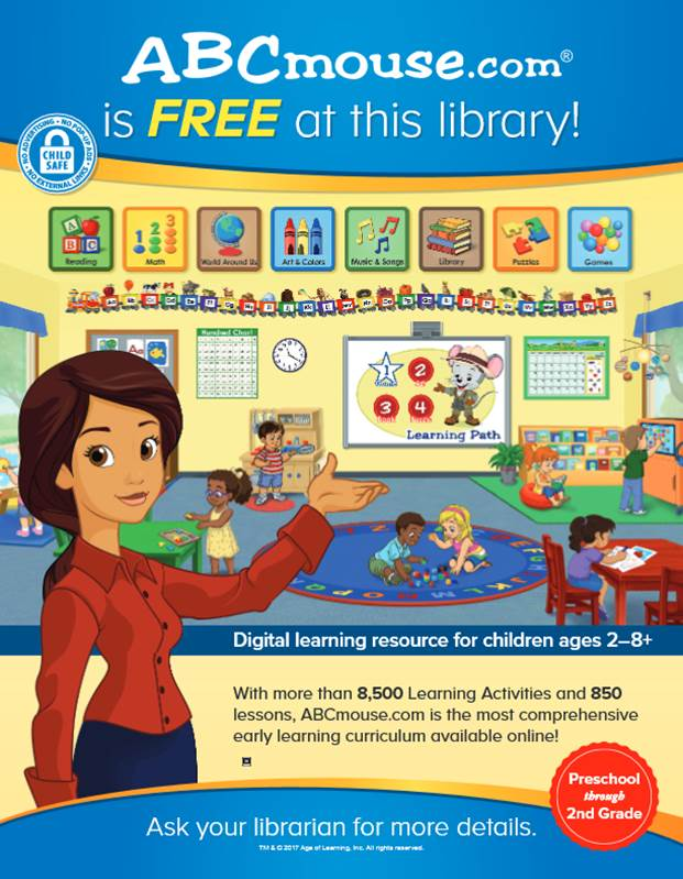 ABCmouse for Kids Free Through Library | News Releases
