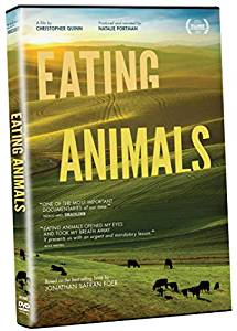 eating animals title over pasture land with cows